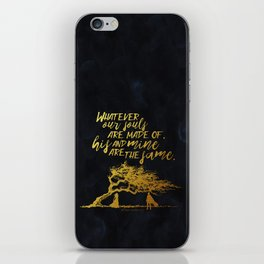 Wuthering Heights - Souls - Gold Foil iPhone Skin