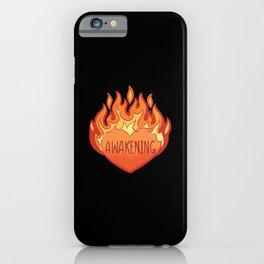 Awakening Heart In Flames iPhone Case