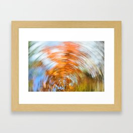Fall abstract Framed Art Print