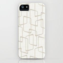 Beige / Light Warm Gray Retro Geometric Print iPhone Case