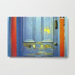 Primary Colors Door Metal Print