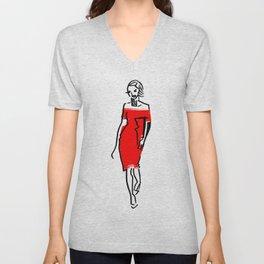fashion sketch 2 Unisex V-Neck