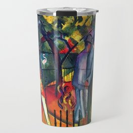 Hyacinth Macaw and Zoological Garden by August Macke Travel Mug