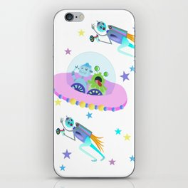Outerspace Traffic Jam iPhone Skin