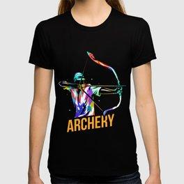 Archery Arc Sports Longbow Bow Gift T-shirt