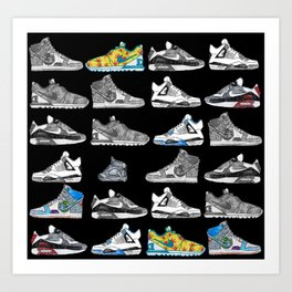 Seek the Sneakers Art Print