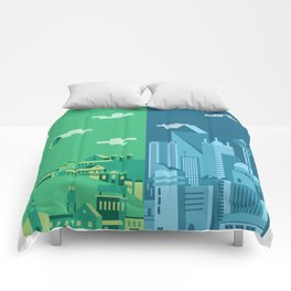 Foreign Cities Comforters