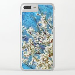 Blossom and Blue Sky In Monet Style Clear iPhone Case
