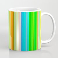 stripe Mugs featuring stripe by AmeliaPeelArt