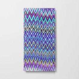 Missoni Style Blue Metal Print
