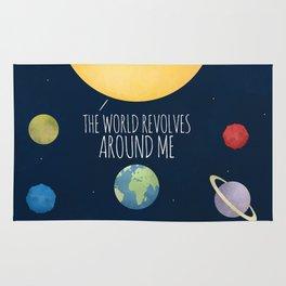 The World Revolves Around Me Rug
