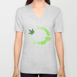 Stoners Gotta Roll Green Unisex V-Neck