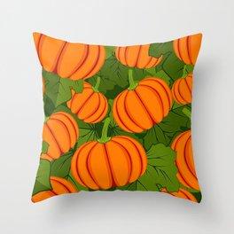 C13D Pumpkin Harvest Throw Pillow