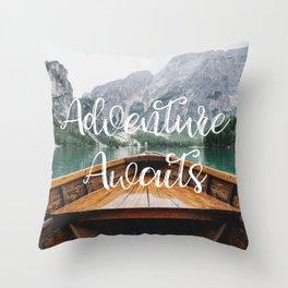 Live the Adventure - Adventure Awaits Throw Pillow