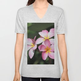 Hawaiian Flower Unisex V-Neck