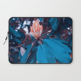 Magical Alien Planet Flora Fauna Neon Turquoise And Pink Laptop Sleeve