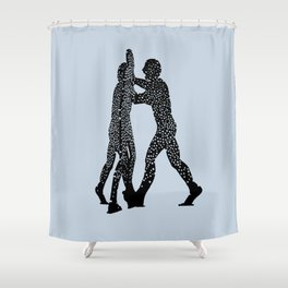 Molecule Man Shower Curtain