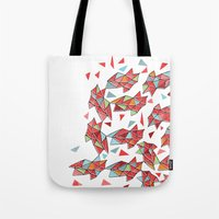 triangles Tote Bags featuring triangles by Matthew Taylor Wilson