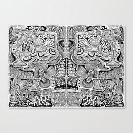 El reflejo W&B Canvas Print