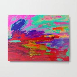 Digital Red Violet 125 Metal Print