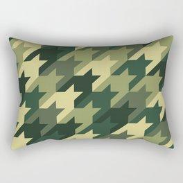 Camouflage houndstooth Rectangular Pillow