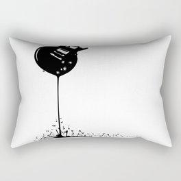 Bubbling Musical Notes Rectangular Pillow