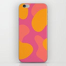 Abstract Blobs (Pantone Living Coral) iPhone Skin