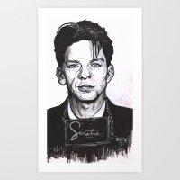 frank sinatra Art Prints featuring Sinatra by R.E.V. Illustrations
