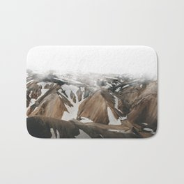 Iceland Snow and Mountains Bath Mat