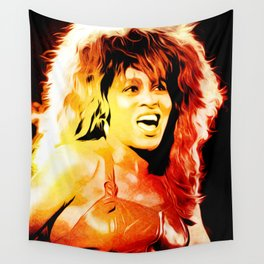 Tina - Queen of Rock and Roll - Turner - Pop Art Wall Tapestry