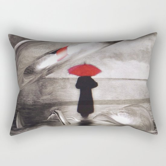 waiting in the sea, intervention Rectangular Pillow