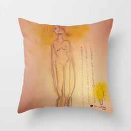 Lucille, The First Human Angel Throw Pillow