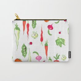 Veggie Party Pattern Carry-All Pouch