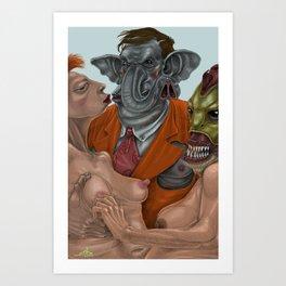 Flip Trunkington Art Print