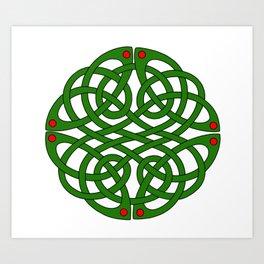 The Book of Kells Medallion Art Print