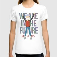 holographic T-shirts featuring Marty McFly in the Future by Sebast Hoyos