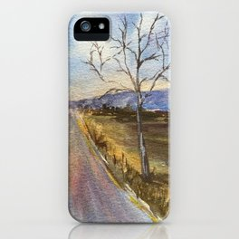 Road to Blue Original Watercolor Painting iPhone Case