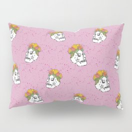 SKULL & FLOWERS - PINK Pillow Sham