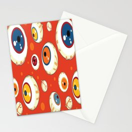 Halloween monsters eyes seamless pattern Stationery Cards