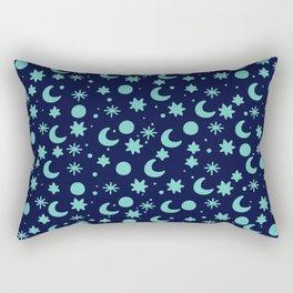 Cosmis space in blues colors Rectangular Pillow