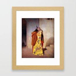 The kiss klimt hayez mix Framed Art Print