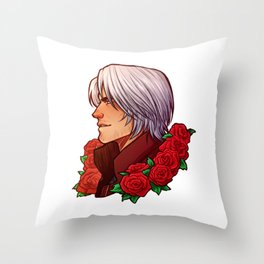 Dante   Red Rose   DMC5 Throw Pillow