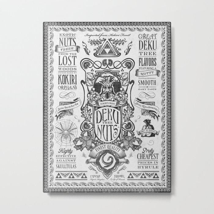 Legend of Zelda inspired Deku Nuts Vintage Advertisement Metal Print