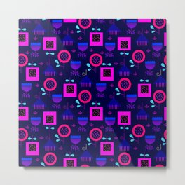 Retro abstract colorful seamless pattern in modern geometric style Metal Print