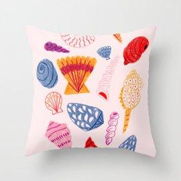 Tropical Seashells Throw Pillow