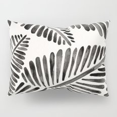 Tropical Banana Leaves – Black Palette Pillow Sham