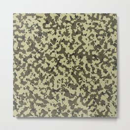 Military Camouflage Texture 10 Metal Print