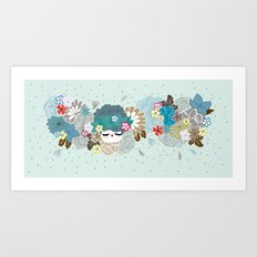 Kokeshina - Hiver / Winter Art Print