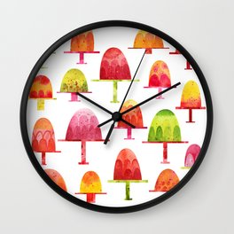 Jellies on Plates Wall Clock