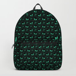 Alien and UFO Pattern Backpack